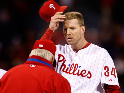 Roy Halladay pitched a complete game for the Phillies, but took the loss in the end. (Ron Cortes / Staff Photographer)