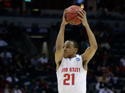 Ohio State´s Evan Turner, a 6-7 guard and the Big Ten player of the year, is likely to be available to the 76ers with the No. 2 pick. (AP Photo / Morry Gash)