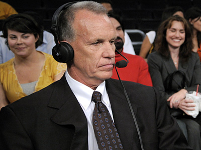 TNT announcer Doug Collins is in negotiations with the Sixers to become the team´s next head coach, according to a source. (AP Photo/Kevork Djansezian)