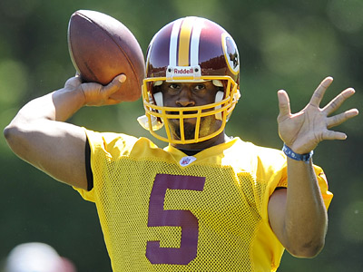 What kind of impact will Donovan McNabb have on the Redskins? (AP Photo/Nick Wass)