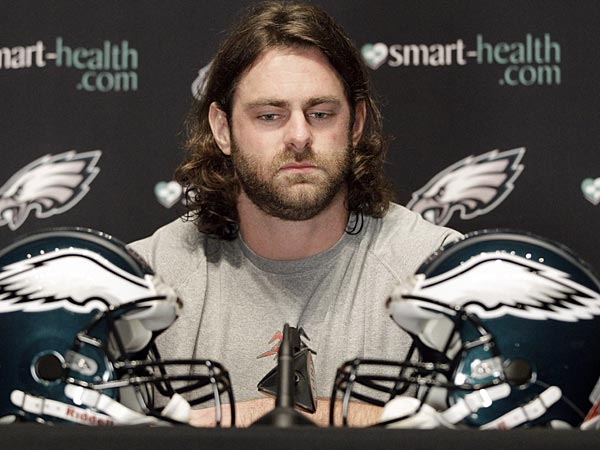 Eagles offensive lineman Evan Mathis. (Matt Slocum/AP)