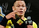 John Cena speaks Chinese for Chinese reporters during a news conference before the WWE Wrestlemania 29 wrestling event, Sunday, April 7, 2013, in East Rutherford, N.J. (AP Photo/Mel Evans)