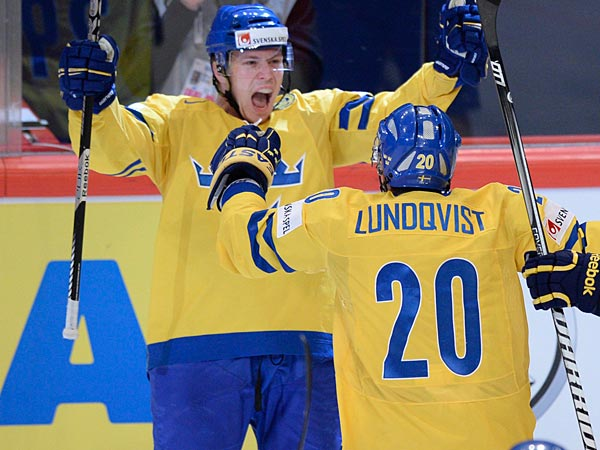 Flyers´ defenseman Erik Gustafsson helped lead Team Sweden to the Gold medal at Worlds on Sunday. (Jacques Boissinot/The Canadian Press/AP)