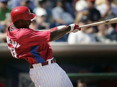 The Phillies could call up minor-league prospect John Mayberry for this weekend´s series against the Yankees. (Eric Mencher/Staff file photo)