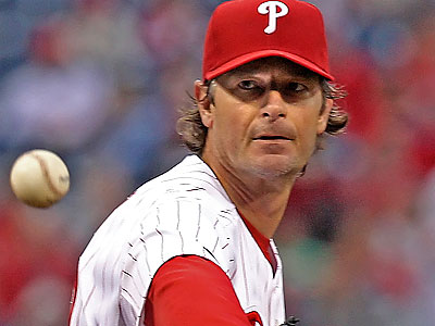 Jamie Moyer has a sprained ulnar collateral ligament but says he intends to pitch again. (Steven M. Falk / Staff File Photo)