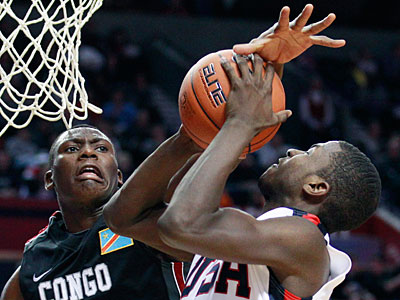 Bismack Biyombo (left) could be on the Sixers´ radar in the NBA draft. (Rick Bowmer/AP)