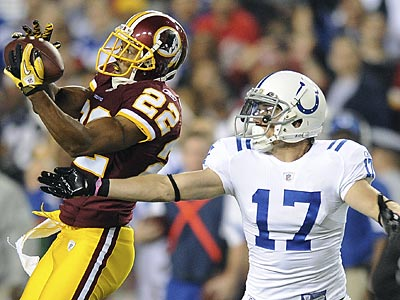 Carlos Rogers believes he is one of the best cornerbacks available this offseason. (Nick Wass/AP)