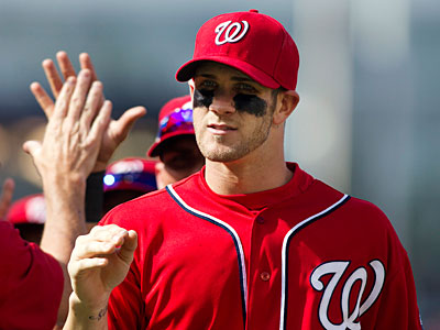 """It's going to be a fun three days down there in Philly,"" Nationals rookie Bryce Harper said. (Manuel Balce Ceneta/AP)"