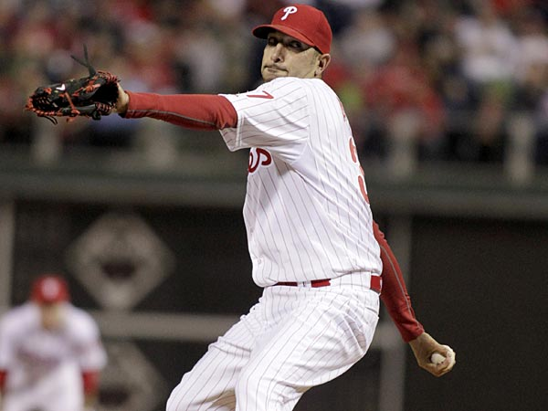 Phillies reliever Mike Adams. (H. Rumph Jr/AP file photo)