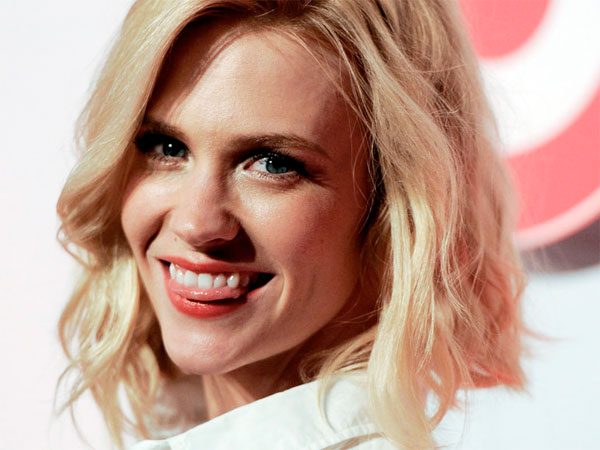 January Jones attends The Shops at Target event at the IAC Building on Tuesday, May 1, 2012 in New York. (AP Photo/Evan Agostini)