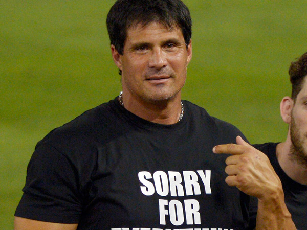 Former major league baseball player Jose Canseco. (AP Photo/Mark J. Terrill)