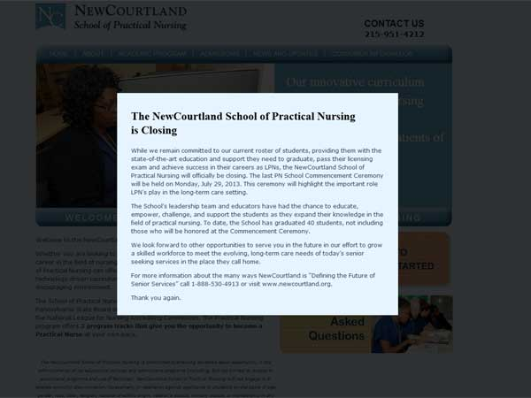 A screengrab from NewCourtland´s web site.