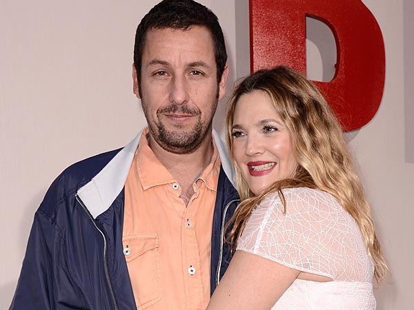 """Adam Sandler, left, and Drew Barrymore arrive at the LA Premiere of """"Blended"""" at the TCL Chinese Theatre on Wednesday, May 21, 2014, in Los Angeles. (Photo by Dan Steinberg/Invision/AP)"""