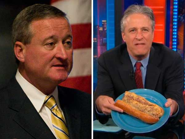 Left, Councilman Jim Kenney (Kriston J. Bethel / Staff Photographer, file); Right, Jon Stewart disses Philadelphians.