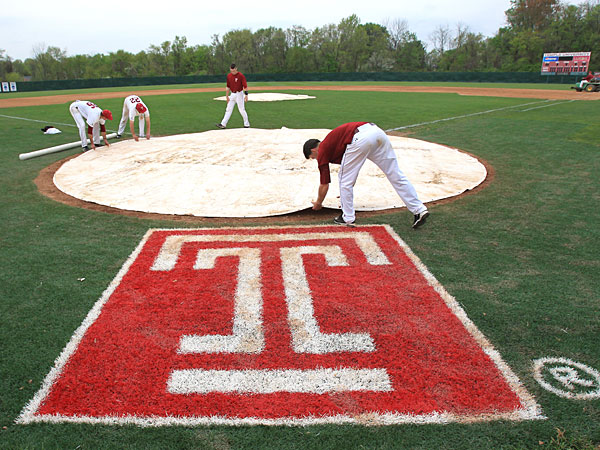 The Temple baseball team competed for the last time at Skip Wilson Field. (Charles Fox/Staff Photographer)