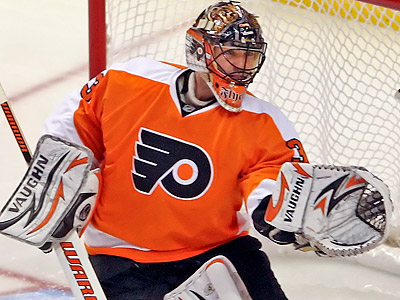 Brian Boucher will start in goal tonight for the Flyers and play two periods. (Steven M. Falk/Staff file photo)