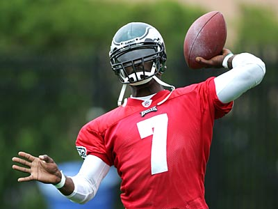 """I´ll be a starter in this league again,"" Michael Vick said today. (David Swanson / Staff Photographer)"