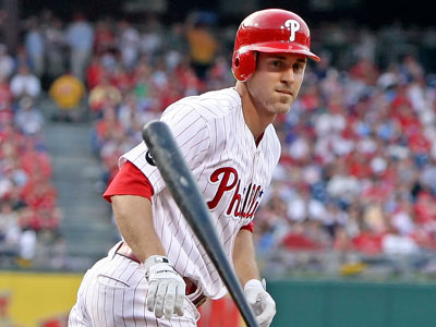 Four-time All-Star Chase Utley not only leads second basemen in votes, but also the entire the National League. (Steven M. Falk / Staff Photographer)