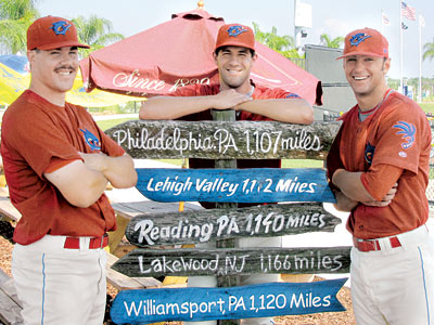 Brody Colvin, center, left last night´s Threshers game with a groin injury. (Joseph Wombough / For the Daily News)