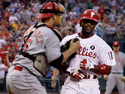 Jimmy Rollins and the Phillies have not been as effective on the basepaths as in seasons past. (Matt Slocum/AP)