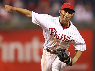 Wilson Valdez pitched a scoreless 19th inning in the Phillies´ marathon win over the Reds Wednesday. (Steven M. Falk/Staff Photographer)