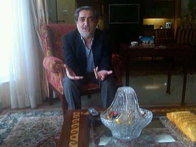 Dr. Abdullah has doubts about talks with the Taliban. (Trudy Rubin / Staff)