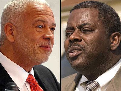 The spending priorities of Philadelphia Housing Authority director Michael P. Kelly (left) differ from those of his predecessor, Carl R. Greene (right), who was fired in September. (Staff Photos)