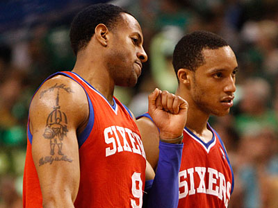 Can Andre Iguodala and Evan Turner both thrive on the Sixers? (Ron Cortes/Staff Photographer)