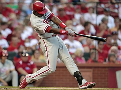 John Mayberry Jr. is hitting .241 with a .274 on-base percentage. (Jeff Roberson/AP)