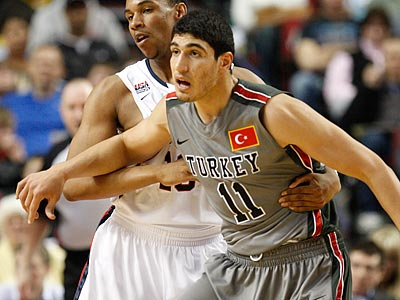 Enes Kanter of Turkey is expected to be a top-five pick in the NBA draft. (Rick Bowmer/AP)