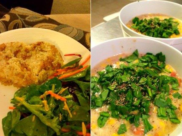 Homemade vegetarian meal via www.theflorkens.com.