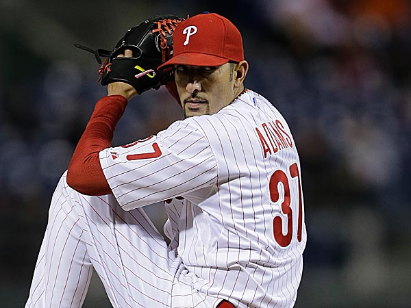 Phillies pitcher Mike Adams. (Matt Slocum/AP file photo)