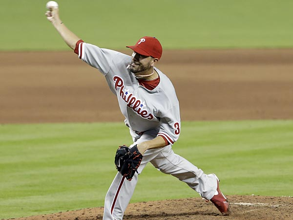 Phillies reliever Mike Adams. (Alan Diaz/AP)