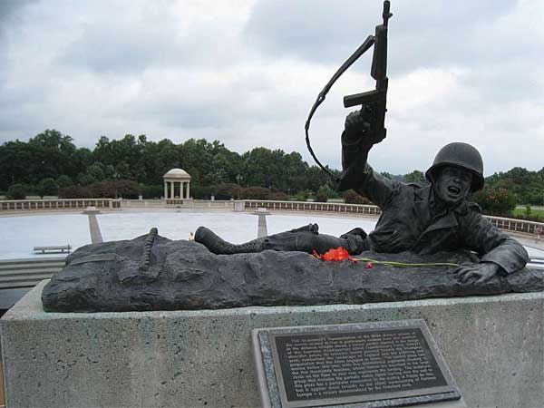The National D-Day Memorial in Bedford, just outside Lynchburg, features an English garden, a stunning victory arch, and a mixed-media invasion scene with landing representation. (MCT)