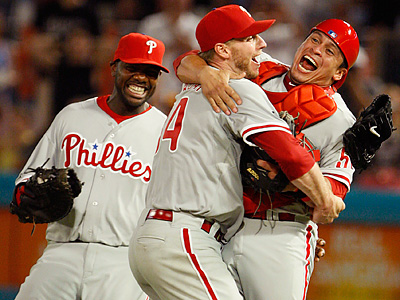 Roy Halladay pitched a perfect game against the Marlins the first time Josh Joshson and Halladay faced each other. (Wilfredo Lee/AP)