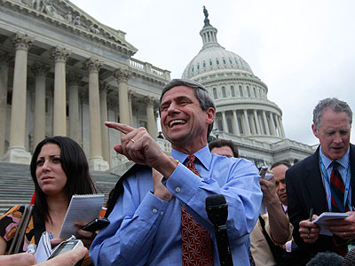"""U.S. Rep. Joe Sestak tried to clarify his explanation from earlier this week about a $350,000 federal spending """"earmark."""" (AP File Photo)"""