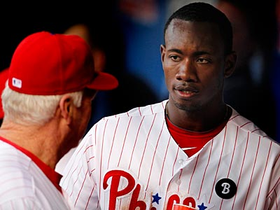 Domonic Brown is not in the lineup for Wednesday´s game against the Nationals. (Ron Cortes/Staff file photo)