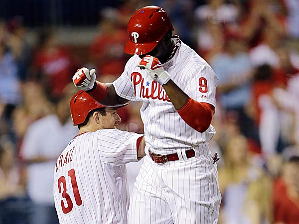 Domonic Brown homered for the third consecutive game on Wednesday. (Matt Slocum/AP)