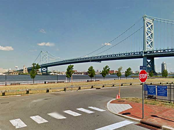 View of Camden waterfront near Campbell Field. The Sixers are considering building a practice facility and administrative offices in the area. (Google Maps)