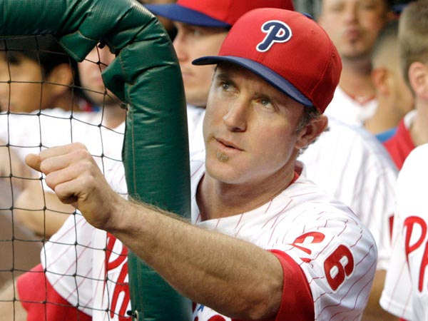 Chase Utley during the Phillies game May 29. (Elizabeth Robertson/Staff Photographer)