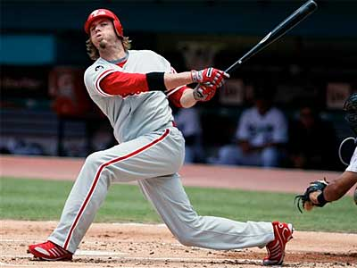 Jayson Werth went 0-for-4 with four strikeouts in Sunday´s loss against the Marlins. (AP Photo / Wilfredo Lee)