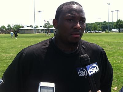 Eagles running back LeSean McCoy joined teammates for informal workouts Tuesday. (Photo: Jeff McLane)