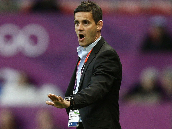 In 2012, John Herdman coached Canada´s women´s soccer team to the country´s first medal in a traditional Summer Olympics team sport since 1936. (Jon Super/AP file photo)