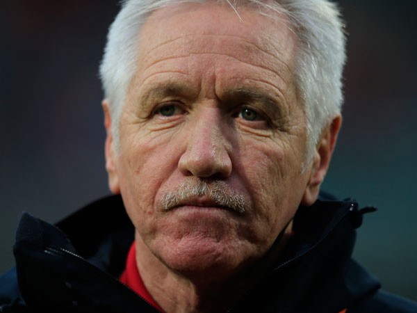 USA´s national women´s soccer coach Tom Sermanni watches form the touchline prior to the start of the international friendly women´s soccer match against The Netherlands at ADO The Hague stadium, Netherlands, Tuesday April 9, 2013. (Peter Dejong/AP file)
