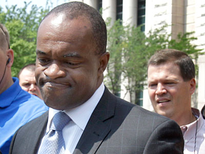 DeMaurice Smith leaves the courthouse after a hearing on the lockout. (Jeff Roberson/AP Photo)