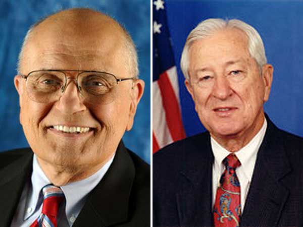 Reps. John Dingell of Michigan (left) and Ralph Hall of Texas are the last World War II veterans in Congress.