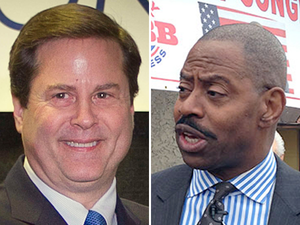 Donald Norcross, left, and Garry Cobb will face off in the Nov. 2014 election for New Jersey´s first congressional district. (FILE PHOTOS)