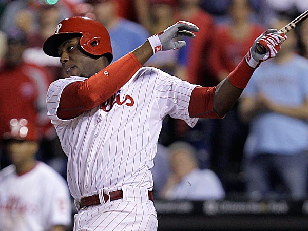 John Mayberry connected on the 10th walk-off grand slam hit by the Phillies. (Laurence Kesterson/AP)