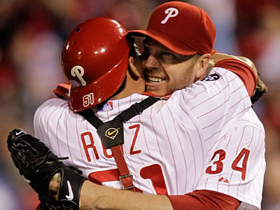 "Roy Halladay said there is ""no question in my mind"" that Carlos Ruiz should be the NL´s leading vote-getting catcher. (AP file photo)"