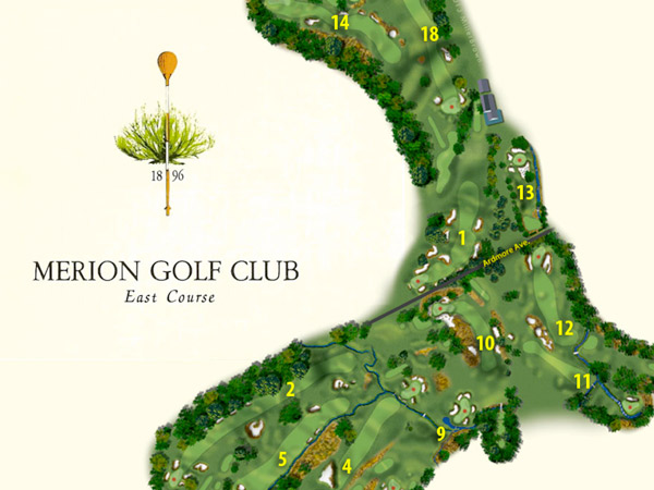 US Open Merion Course Map Philly - Us open course map